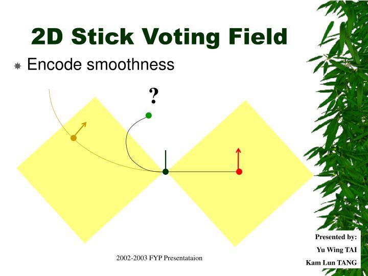 2D Stick Voting Field
