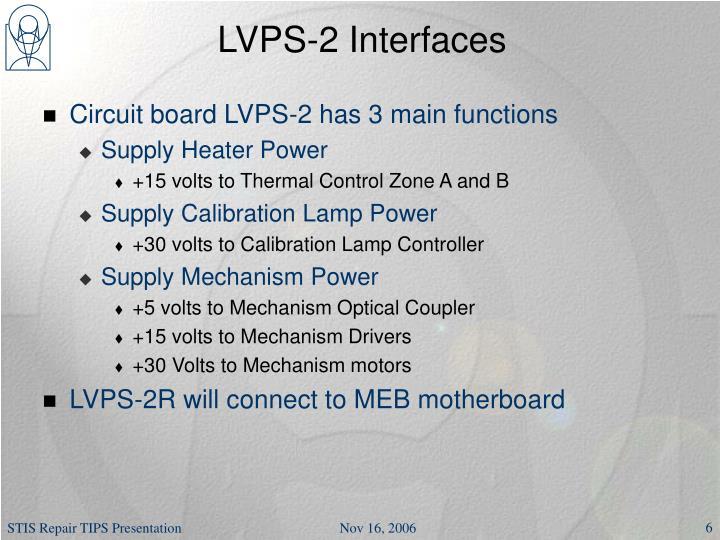 LVPS-2 Interfaces