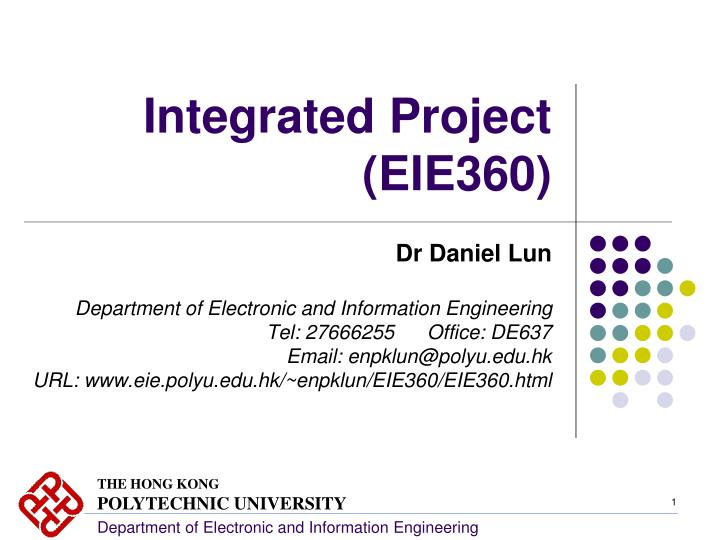 integrated project eie360