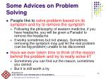 some advices on problem solving