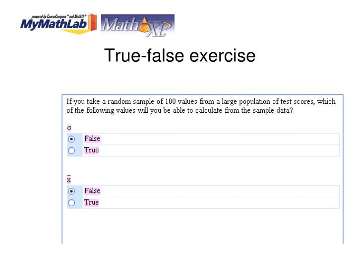 True-false exercise