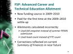 fsp advanced career and technical education allotment