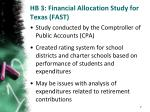 hb 3 financial allocation study for texas fast