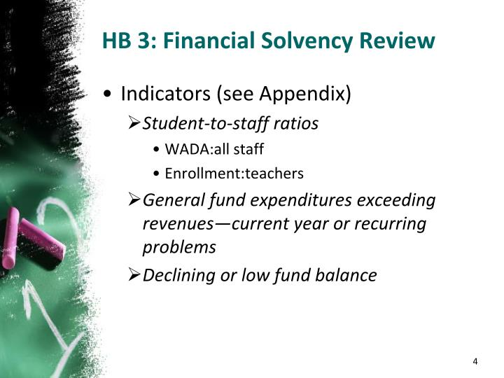 HB 3: Financial Solvency Review