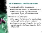 hb 3 financial solvency review1