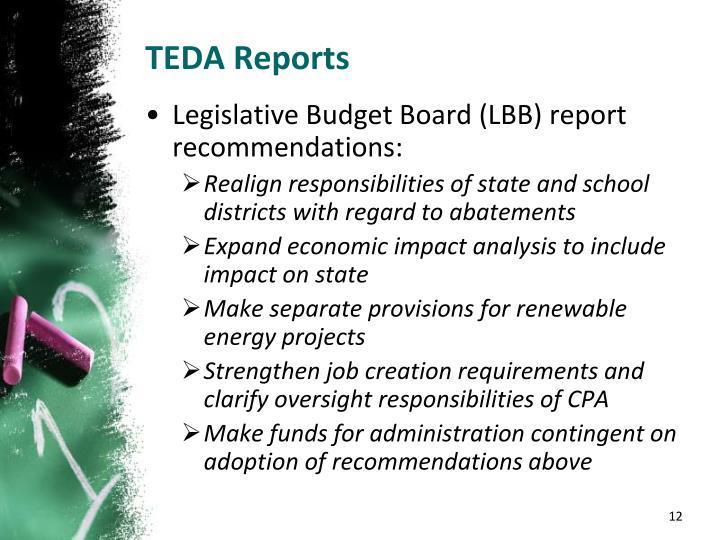 TEDA Reports