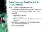 texas economic development act teda reports