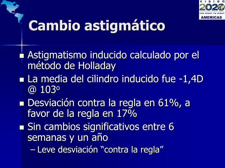 Cambio astigmático
