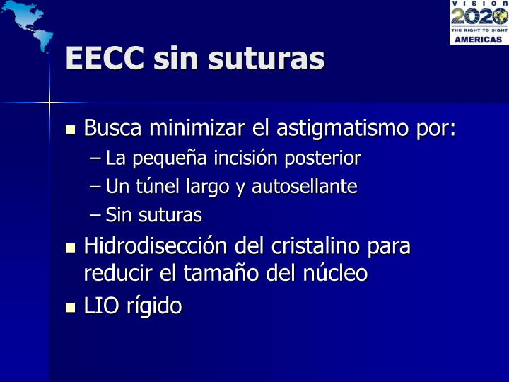 EECC sin suturas