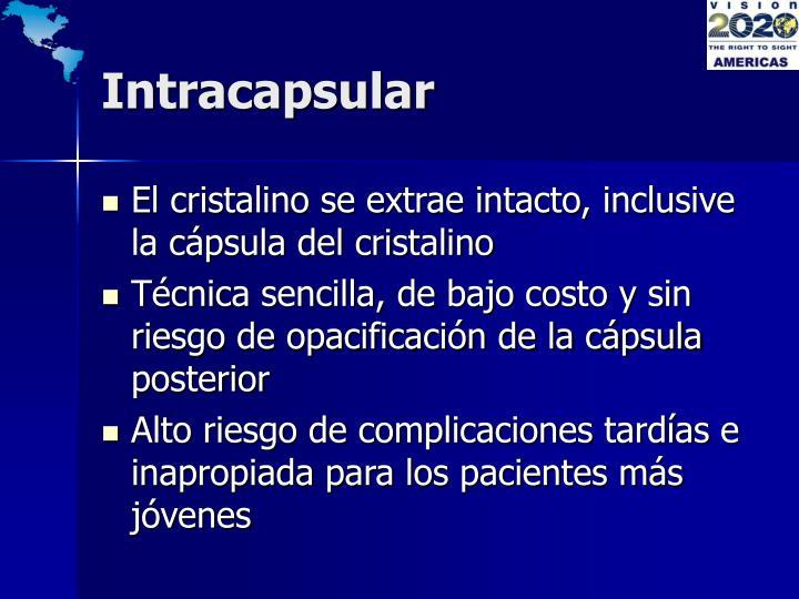 Intracapsular