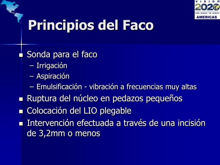 Principios del Faco