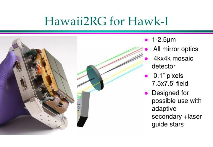 Hawaii2RG for Hawk-I