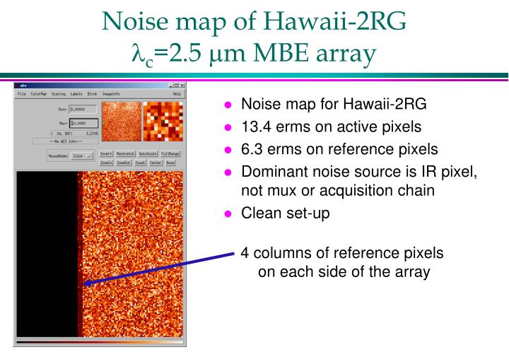 Noise map of Hawaii-2RG