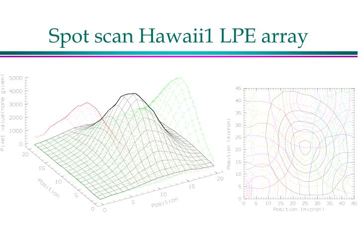 Spot scan Hawaii1 LPE array