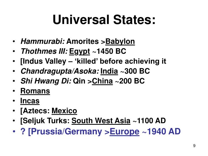 Universal States: