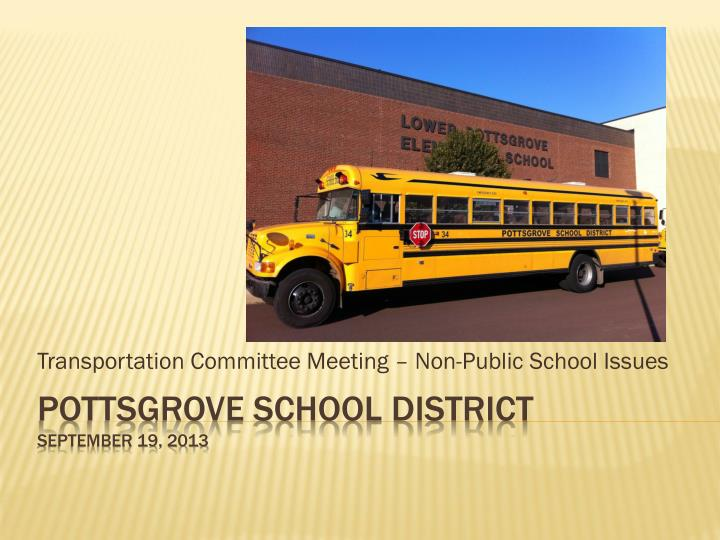 Transportation committee meeting non public school issues