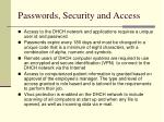 passwords security and access