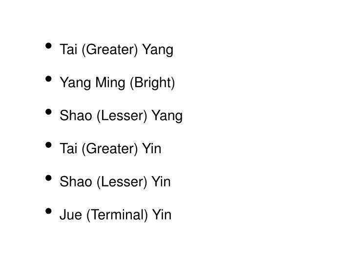 Tai (Greater) Yang