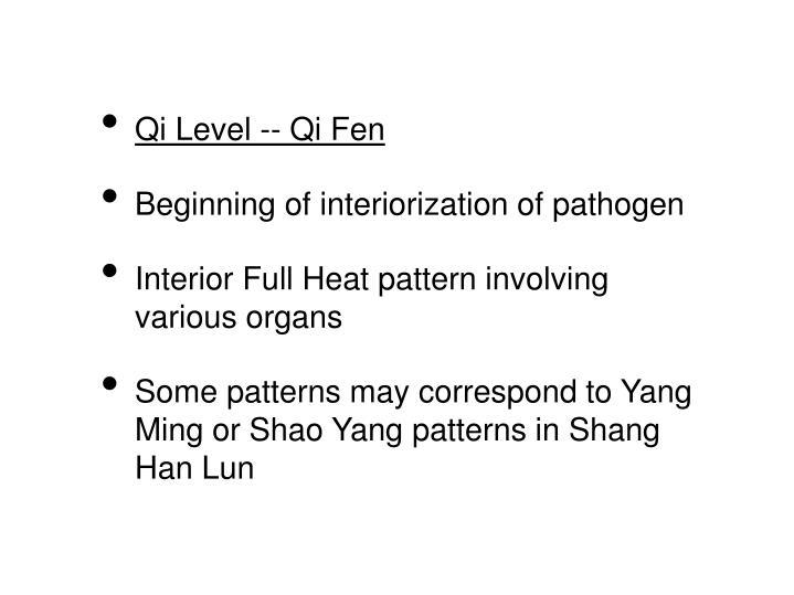 Qi Level -- Qi Fen
