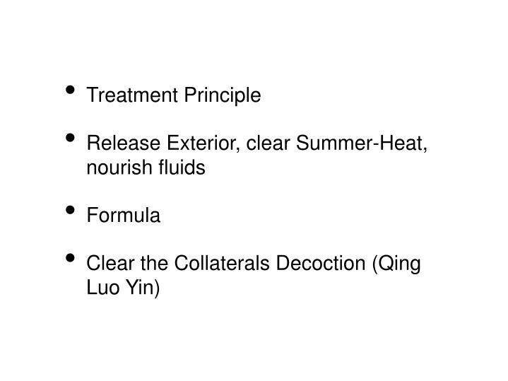 Treatment Principle
