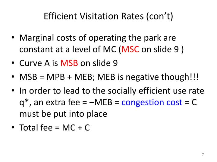 Efficient Visitation Rates (con't)