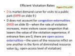 efficient visitation rates