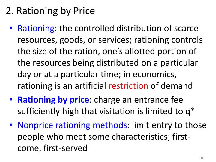 2. Rationing by Price