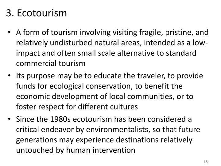 3. Ecotourism