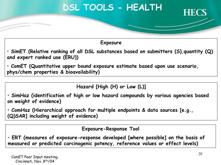 DSL TOOLS - HEALTH