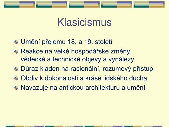 Klasicismus