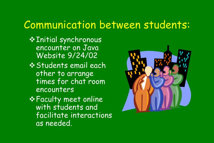 Communication between students: