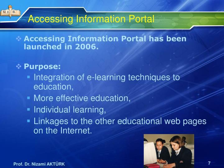 Accessing Information Portal