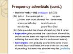 frequency adverbials cont