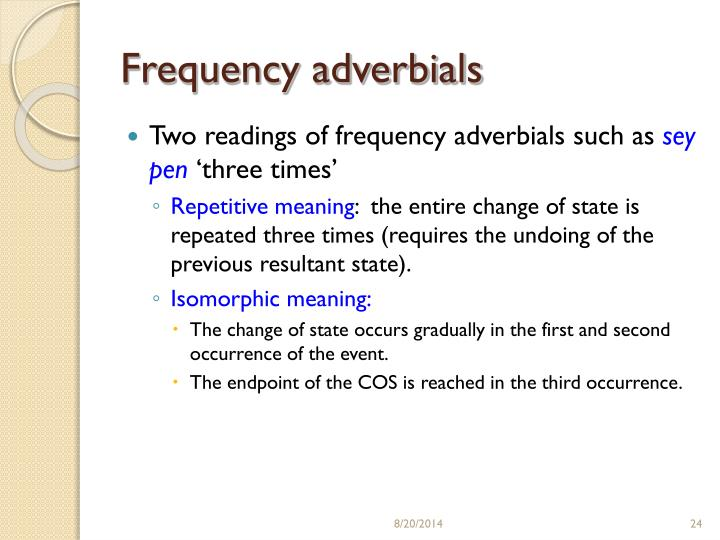 Frequency adverbials