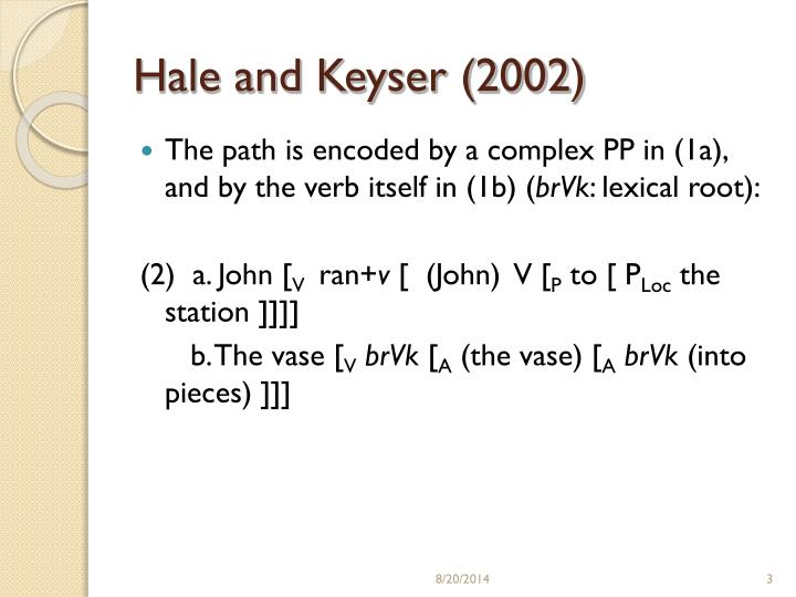 Hale and Keyser (2002)