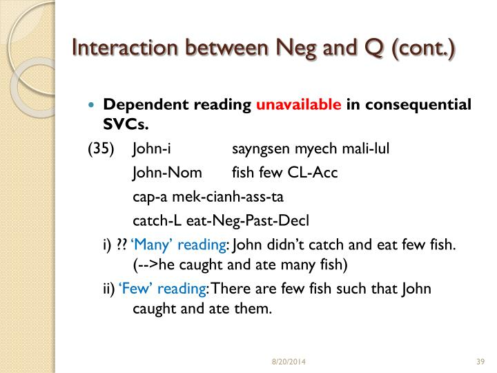 Interaction between Neg and Q (cont.)