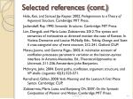 selected references cont