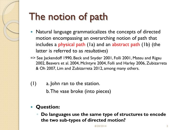 The notion of path