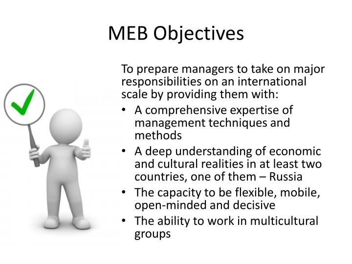 MEB Objectives