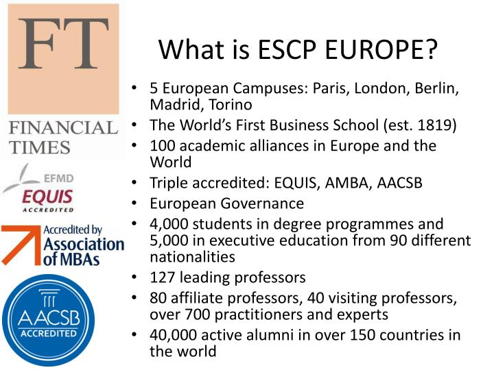 What is escp europe