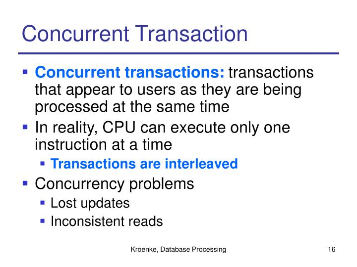 Concurrent Transaction
