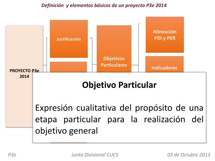 Definición  y elementos básicos de un proyecto P3e 2014