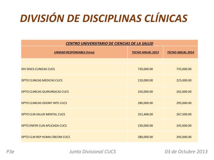 DIVISIÓN DE DISCIPLINAS CLÍNICAS