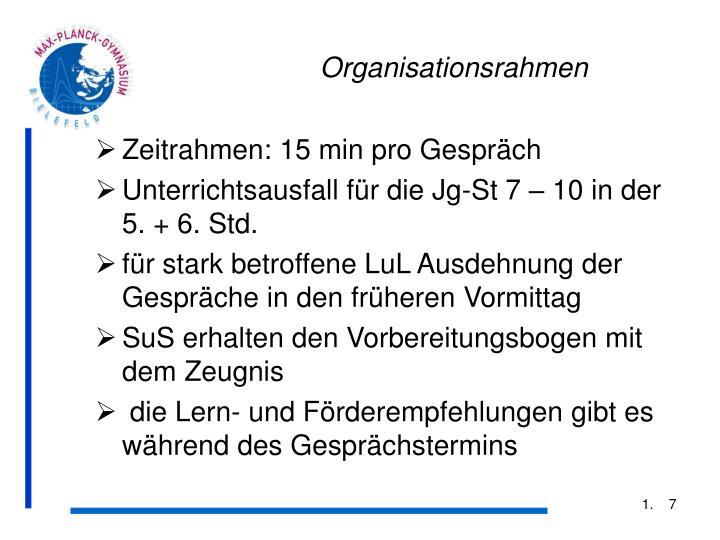 Organisationsrahmen