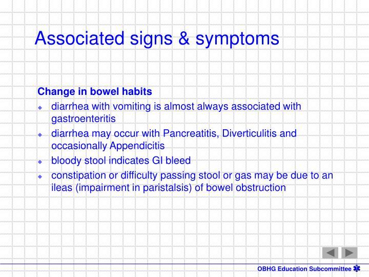Change in bowel habits