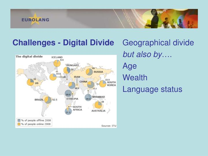 Challenges - Digital Divide