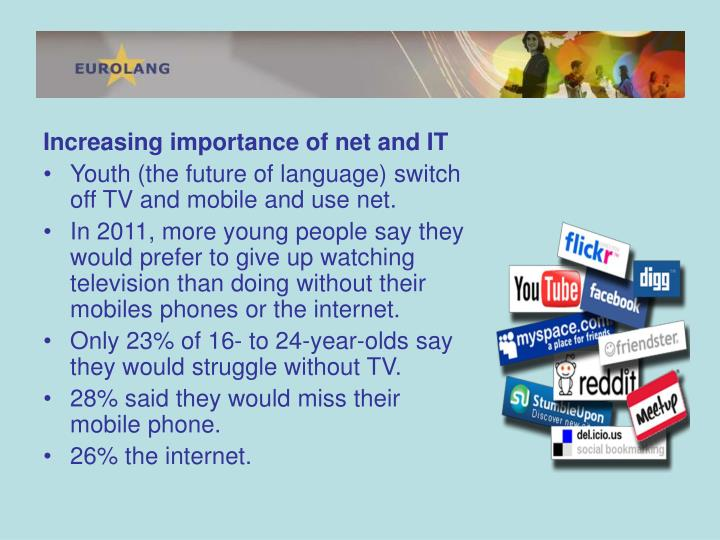 Increasing importance of net and IT