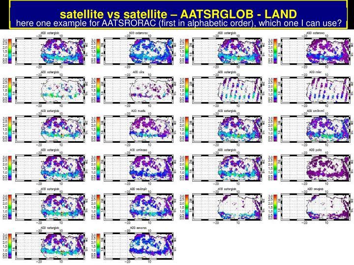 satellite vs satellite – AATSRGLOB - LAND