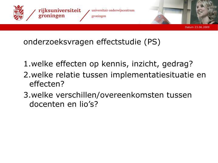 onderzoeksvragen effectstudie (PS)