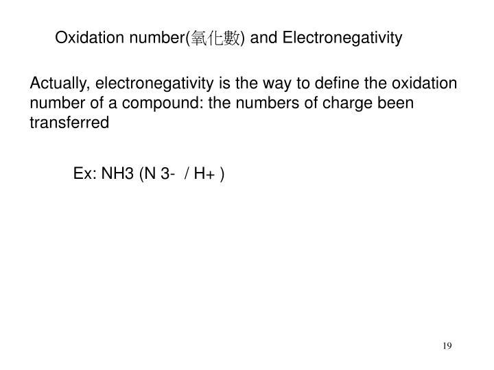 Oxidation number(